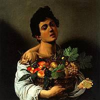 Ragazzo con canestro e frutta