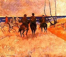 Cavalieri sulla spiaggia